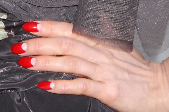 Dita Von Teese --- moon manicure. deciding whether to get her nail set for the shoot...