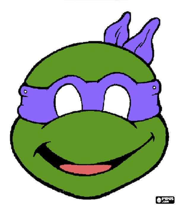 It's just a graphic of Rare Ninja Turtle Printable Mask