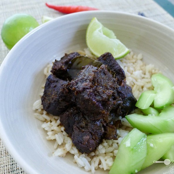 Kylie Kwong's Roast Beef with Asian Paste & Lime, Garlic & Cucumber Salad