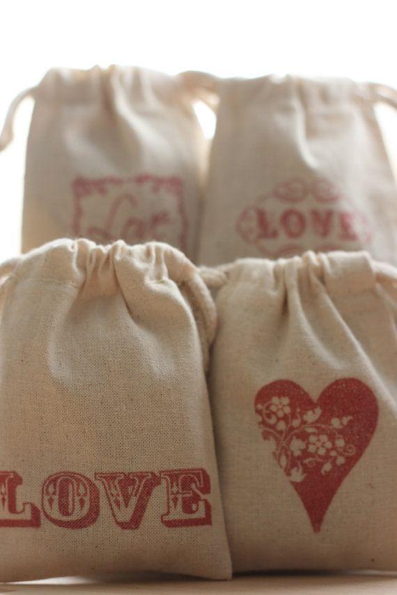 cotton muslin favor gift bag