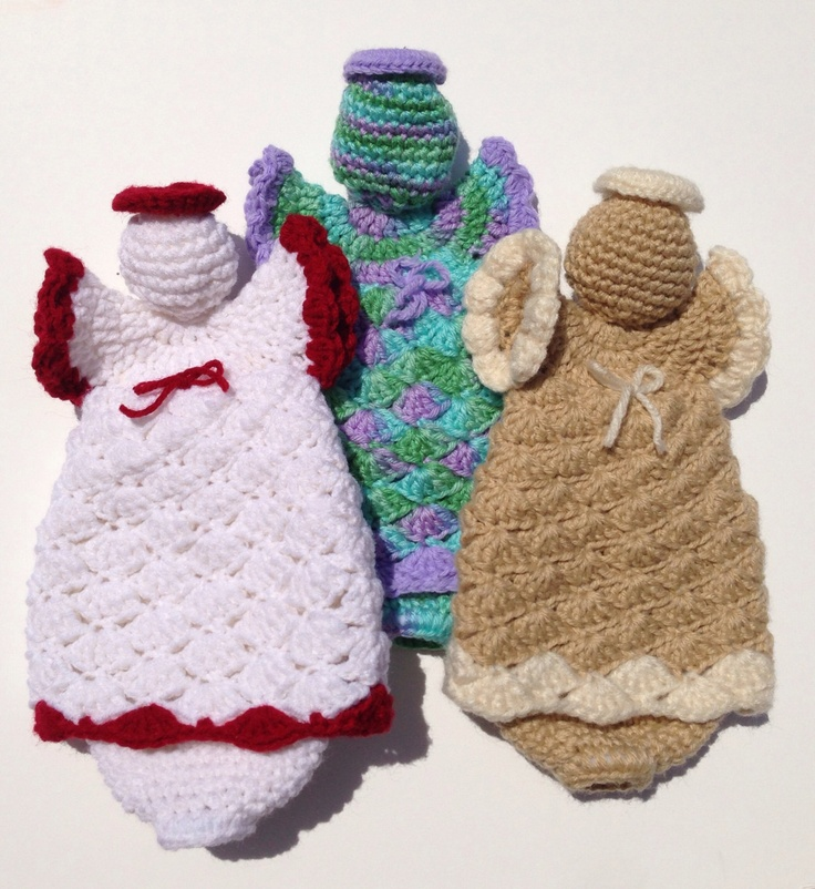 I think these would be great for a craft show! No? Angel Grocery Bag Holder
