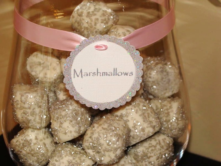 Glittery marshmellows