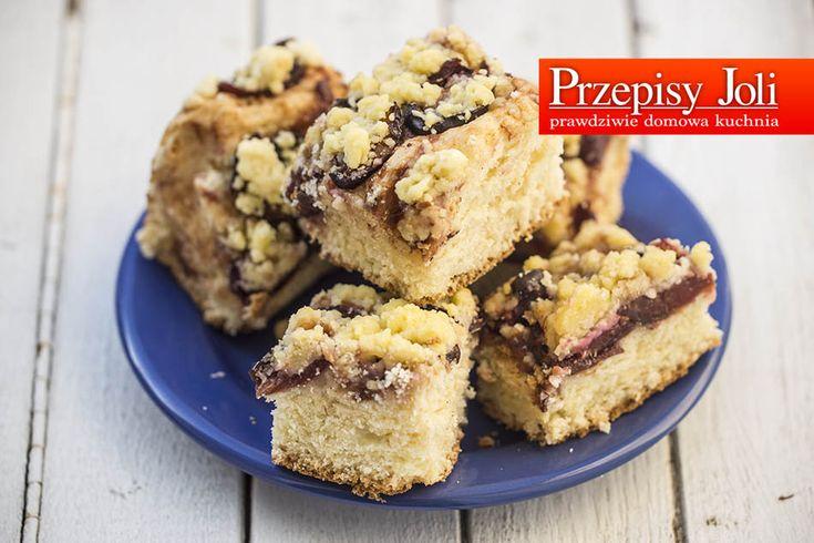 CIASTO ZE ŚLIWKAMI - pyszne, tradycyjne, proste domowe ciasto ze śliwkami i kruszonką :)