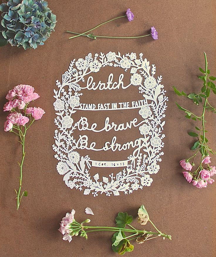 floral papercut commission