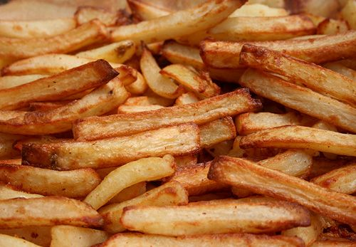 Duck fat french fries recipe restaurant french and an for Air fryer fish and chips