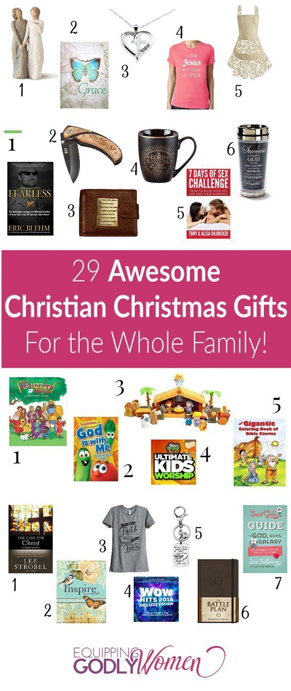 Christmas shopping can be so stressful. I found myself always getting so  frustrated trying to find the best Christmas gifts for everyone on my list. - 29 Christian Christmas Gift Ideas Your Whole Family Will Love TOP