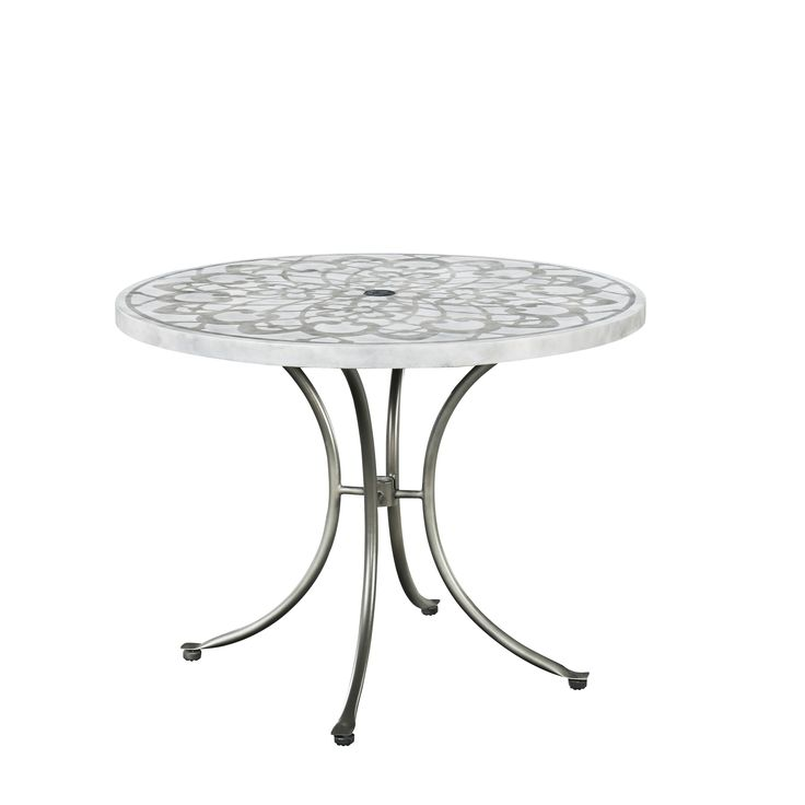 Capri Concrete Stenciled Round Outdoor Table by Home Styles