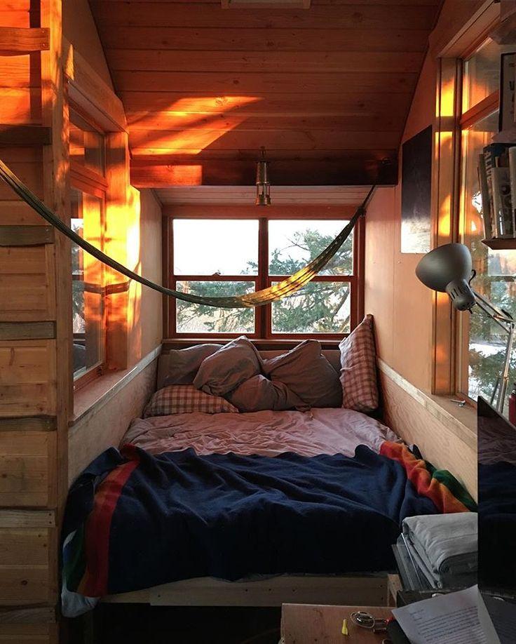 treehouse sleep dojo  sleeping nook bed nook cabin bedroom