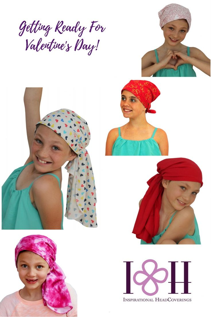 Valentine's Day is right around the corner.  We have over 50 #headcovers for children with #hairloss.  #childhoodcancer #cancergifts #cancer #chemo #alopecia #etsy #etsyshop #amazon #lovemyIHC