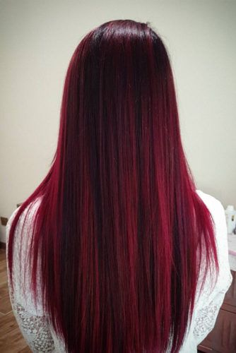 red highlights hair ideas