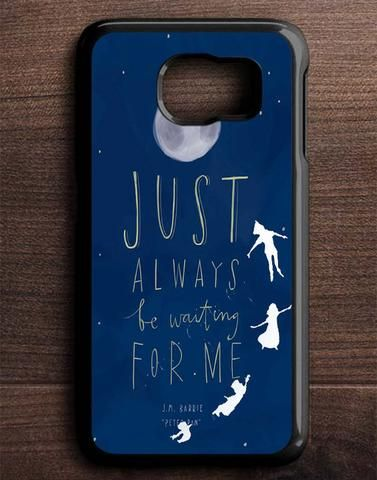 Peter Pan Quote Blue Sky Samsung Galaxy S6 Edge Case