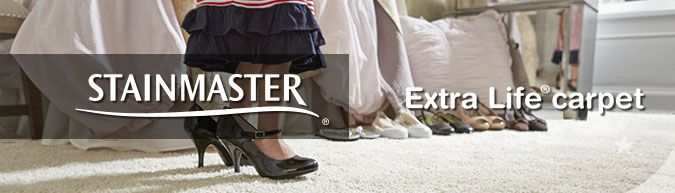 Stainmaster Extra Life collection stain resistant carpet at savings from 30 to 60%