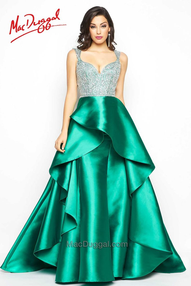 Prom dress new arrival 2016 mermaid pageant dress emerald green - Brand Designer Mac Duggal Couture By Cas Season Fall Occasion Formal Prom Dress Neckline Plunging Neck V Neck Skirt Ball Gown High Low Hem Train