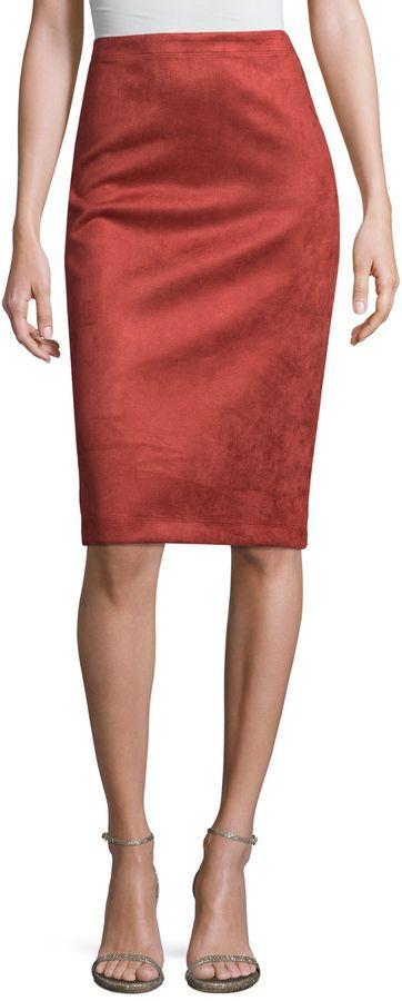 BCBGMAXAZRIA Women's Velour Skirt