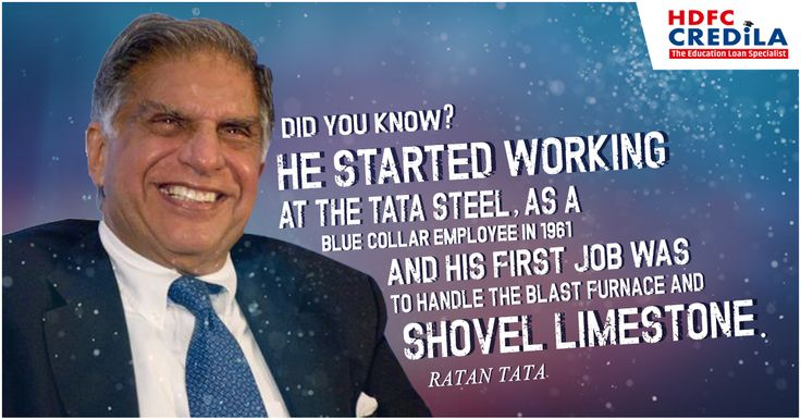 Big changes start with small steps. Just like Mr. Ratan Tata, hold onto your dream and never give up. #DidYouKnow