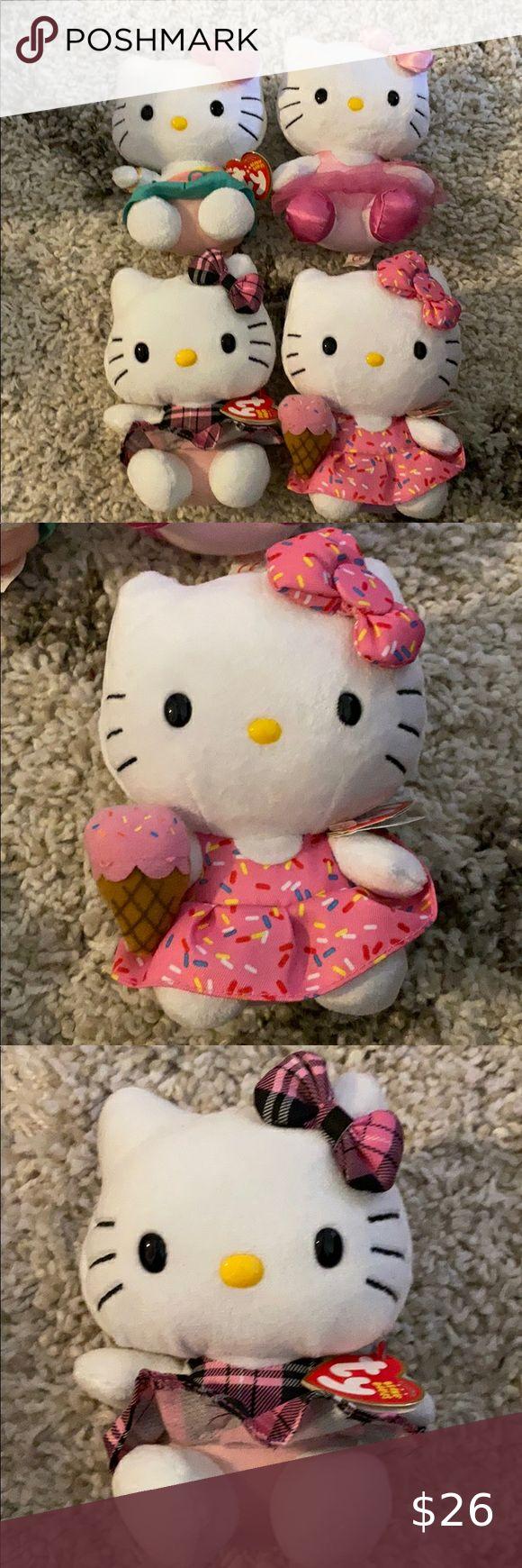4 Hello Kitty beanie buddies Dress bundle NEW in 2020