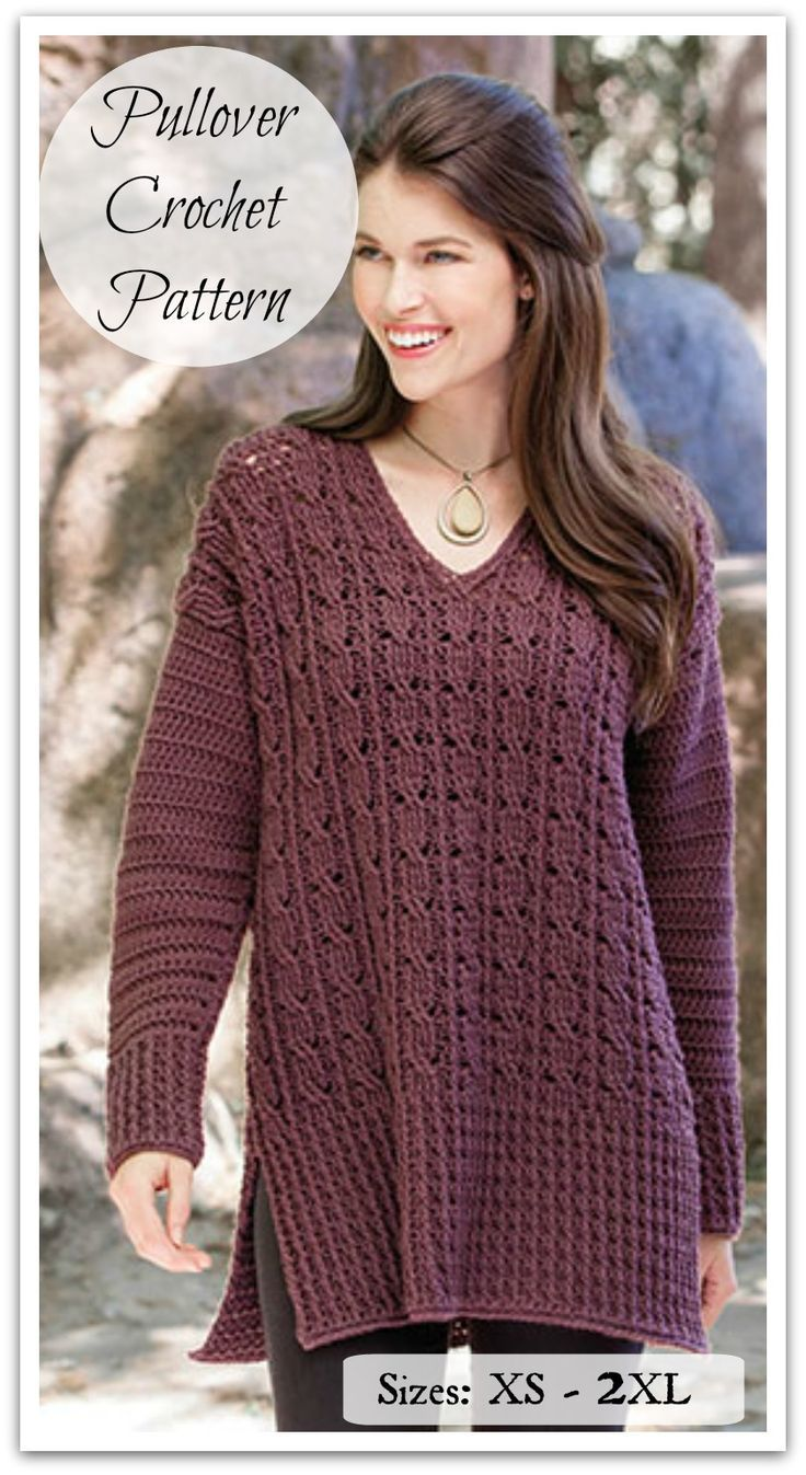 Inverin Sweater Crochet Pattern.