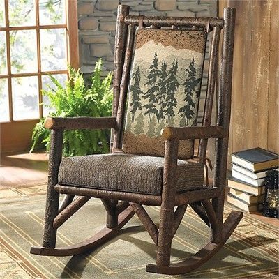 ... Mountain Cabin Style  Pinterest  Trees, Cottages and Rocking chairs