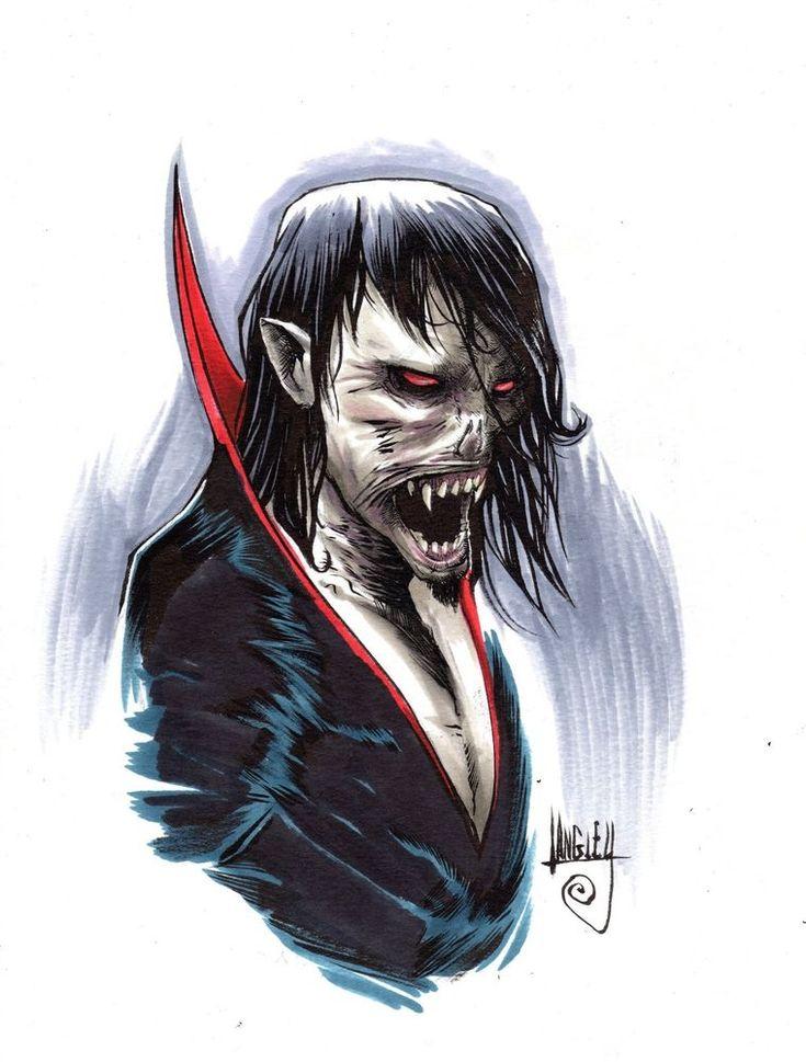 #Morbius the Living Vampire original art, 9x12 #Copic markers, signed #marvel
