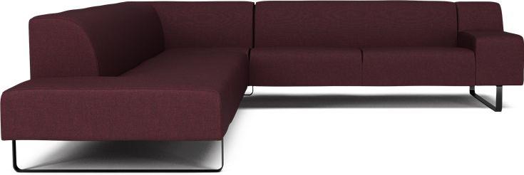 Seville 7 pers ecksofa m open end vorderansicht sofa bolia neue wege und - Ecksofa skandinavisches design ...