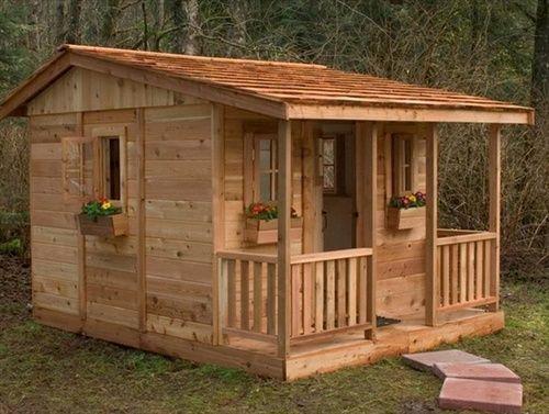 DIY Designs - Kids Pallet Playhouse Plans | Wooden Pallet Furniture