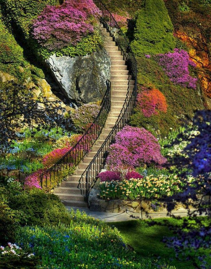 Reasons to Save: Visit the beautiful garden at Butchart Gardens, British Columbia, Canada....we can go, does not mean we are climbing stairs:p