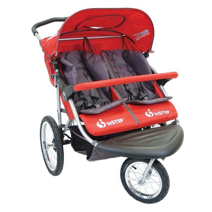 Instep Safari Tt Double Jogger Red Double Jogging Stroller