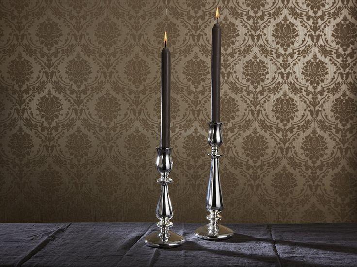 Roma Silver Glass Candlesticks #MerryBrissmas