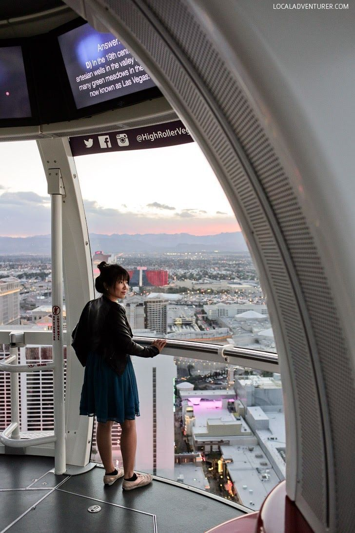 The High Roller Las Vegas Nevada USA - Currently the Biggest Ferris Wheel in the World standing at 550-foot tall with a 520-foot diameter // localadventurer.com