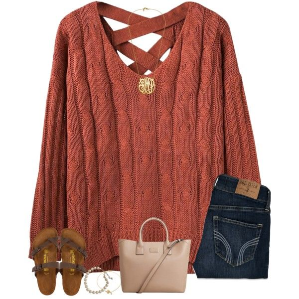 A fashion look from January 2017 featuring Hollister Co. jeans, Birkenstock sandals and MANGO tote bags. Browse and shop related looks.
