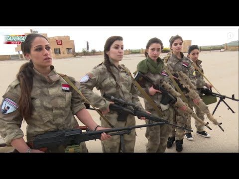 Syrian Christian girls defend their town from Western backed islamist terrorists - YouTube