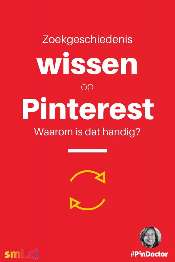Zoekgeschiedenis wissen op Pinterest, waarom dat handig kan zijn. Blog door @suuswartenbergh