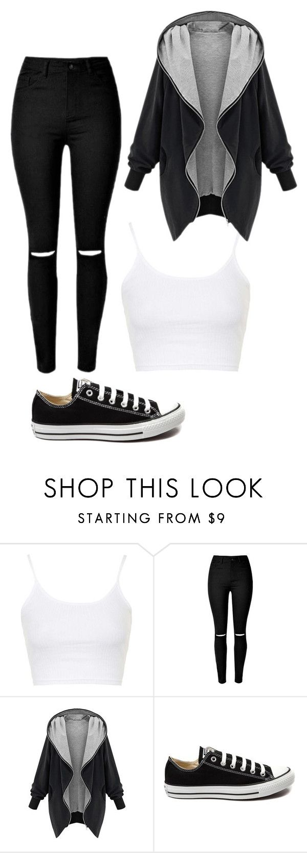 """""""Untitled #405"""" by rose-tyler-i-doctorwho ❤ liked on Polyvore featuring Topshop, Converse, women's clothing, women, female, woman, misses and juniors"""