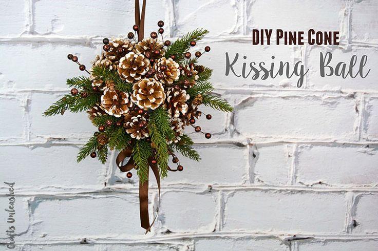 DIY-Kissing-Ball-Tutorial-Crafts-Unleashed-1 http://blog.consumercrafts.com/decor-home/pine-cone-diy-kissing-ball/