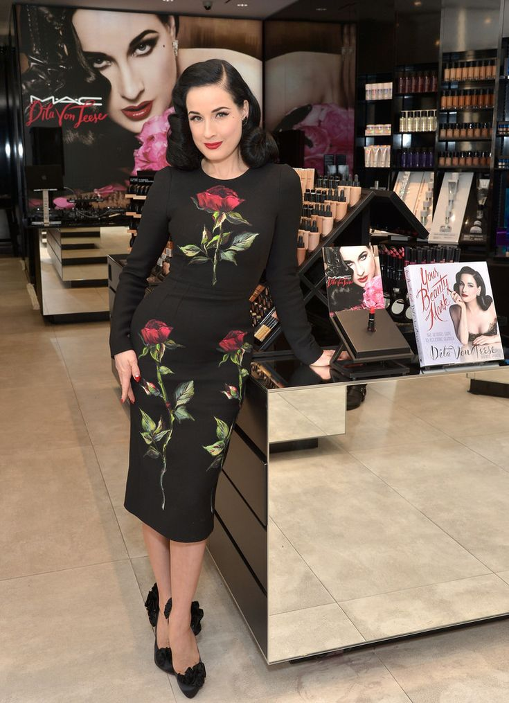 Dita Von Teese in Dolce&Gabbana attends the MAC Comestics Dita Von Teese Collection Launch Event on December 11, 2015