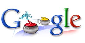 Google Doodle - 2006 Torino Olympic Games - Curling