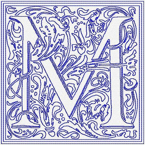 Machine Embroidery Design - Roman Block Letters - 4,5, and 6 inch