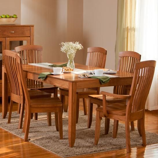 Justine 7 Piece Dining And Chair Set By Simply Amish   Becker Furniture  World   Dining