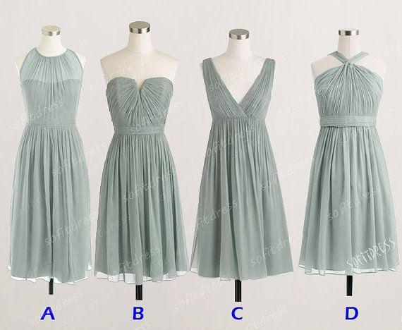 sage grey bridesmaid dress chiffon bridemsmaid dress by sofitdress, $90.00 bridesmaid dress, 2015 bridesmaid dresses