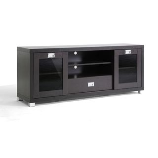 Fresh Black Media Cabinet with Doors
