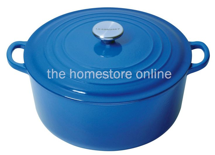 Le Creuset Round Casserole 24cm (Marseille Blue) - The Homestore NZ