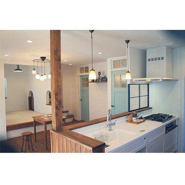 e-planningさんの、Overview,雑貨,カフェ風,塗り壁,白い壁,手作りの家,おしゃれな照明,ナチュラルな雑貨,安全な塗料,かわいいお家についての部屋写真