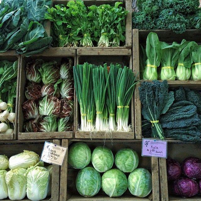 Estante de vegetais.