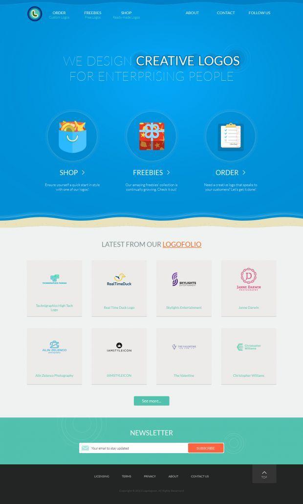 Creative logo design services shop and some great freebies - www.niceoneilike.com - #ecommerce #shop #logo #design #creative #illustration #website
