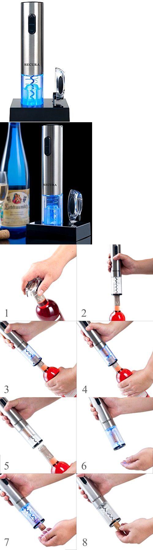 Corkscrews and Openers 20688: Secura Stainless Steel Electric Wine Bottle Opener With Foil Cutter, New -> BUY IT NOW ONLY: $30.74 on eBay!