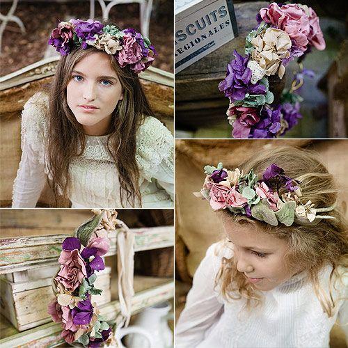 tocados de comunion con flores sencillos - Buscar con Google: tocados de comunion con flores sencillos - Buscar con Google