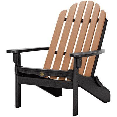 Pawleys Island Pawleys Island Folding Adirondack Chair Color: Black/Cedar