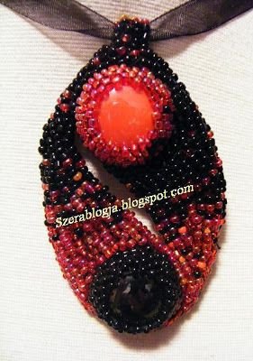 My Jing -Jang neclace made out of beads