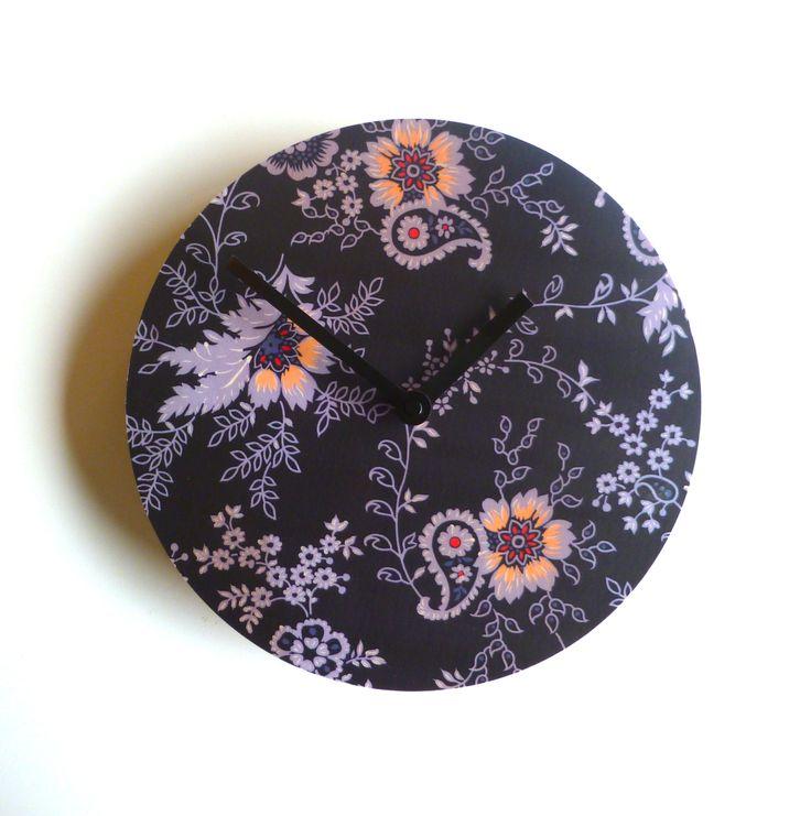 Objectify Clock - Black Floral