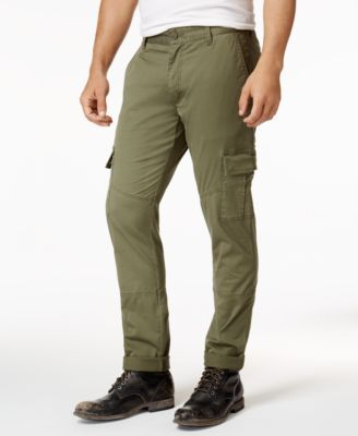 American Rag Men's Tapered Stretch Cargo Pants, Created for Macy's - Tan/Beige 32x30